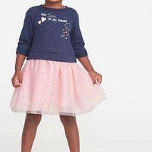NWT Old Navy Toddler Sweatshirt Tutu dress  3T
